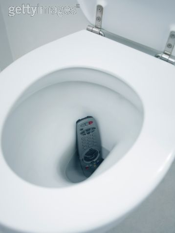 Remote in toilet