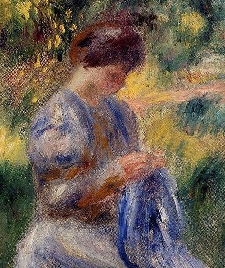 The-Embroiderer-Aka-Woman-Embroidering-In-A-Garden-large (2)