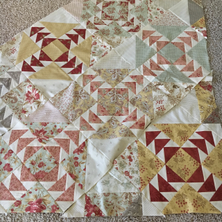 Finished Project Size is 63 x 76 Pattern and Template Set for The Jumble Series Olio Quilt Miss Rosies Quilt Co