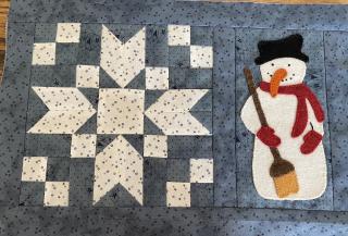 Snowman candle mat 2019